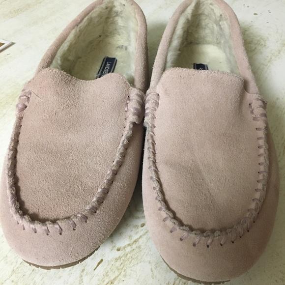 54cc07600a5ed Lands' End Shoes | Lands End Suede Moc Slipper In Washed Pink | Poshmark